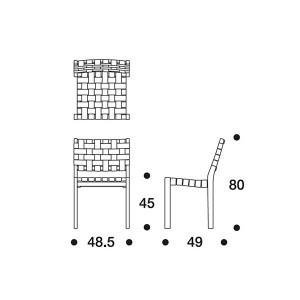 medidas Silla 611 de Artek