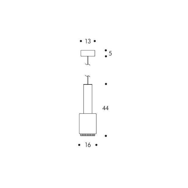 dimensiones Lámpara de suspensión A110 de Artek
