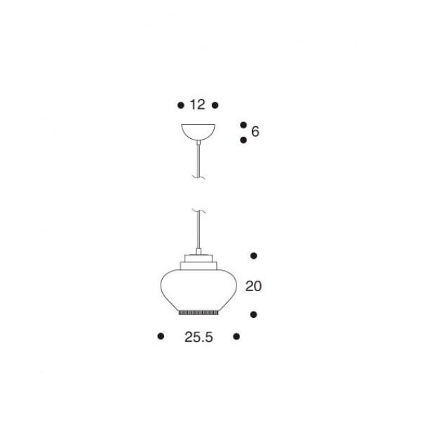 dimensiones Lámpara de suspensión A333 de Artek