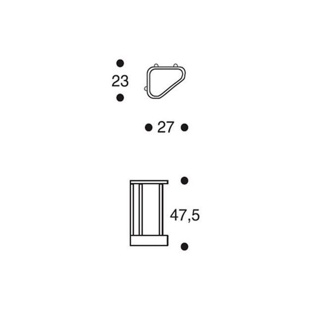 dimensiones Paragüero 115 de Artek
