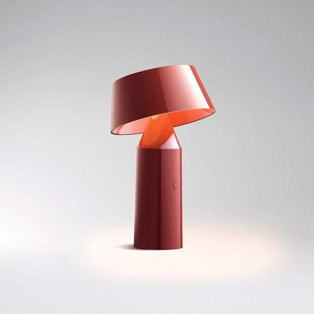 lámpara portátil Bicoca Marset rojo vino