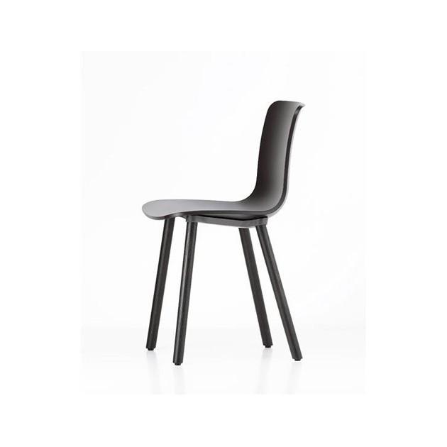 silla Hal Wood Vitra basic dark pata roble oscuro