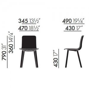 medidas silla Hal Wood Vitra