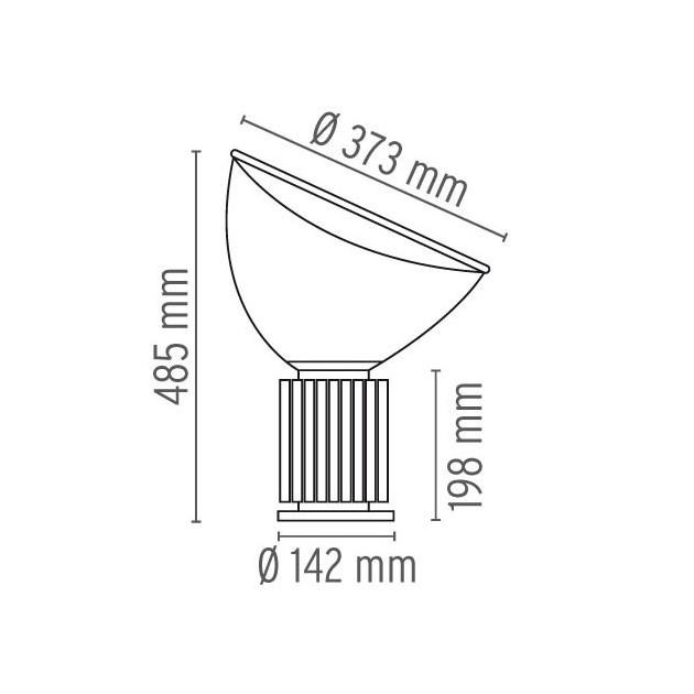 Lámpara Taccia Small Flos medidas