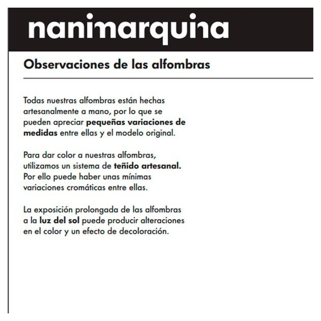 información Alfombra Mélange Stripes 1 Nanimarquina