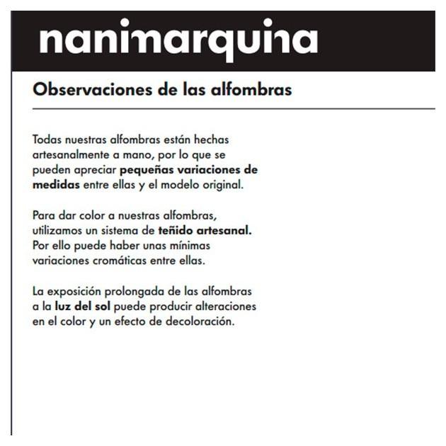 información de producto Alfombra Mano 1993 Nanimarquina