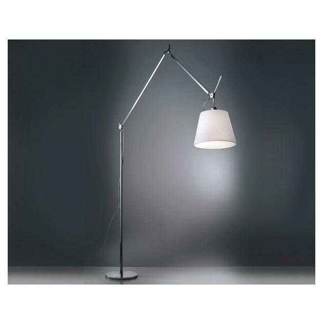 luz lámpara de pie Tolomeo Mega beige Artemide.