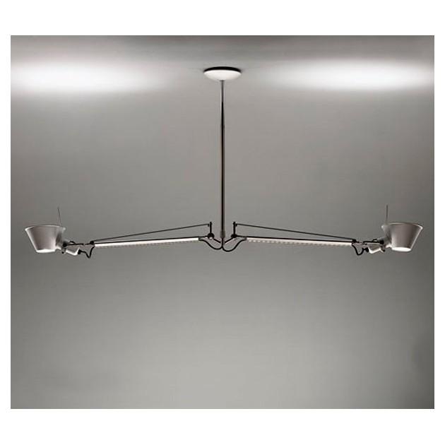 ambiente lámpara de suspensión 2 brazos Tolomeo Artemide