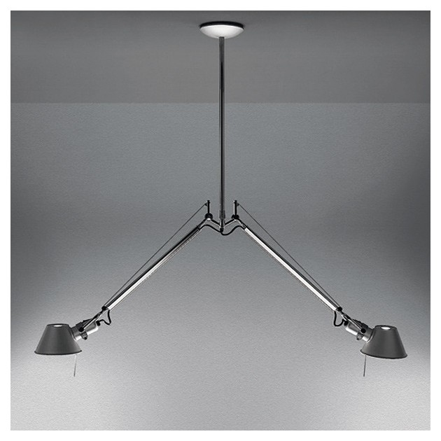lámpara de suspensión 2 brazos Tolomeo Artemide ambiente