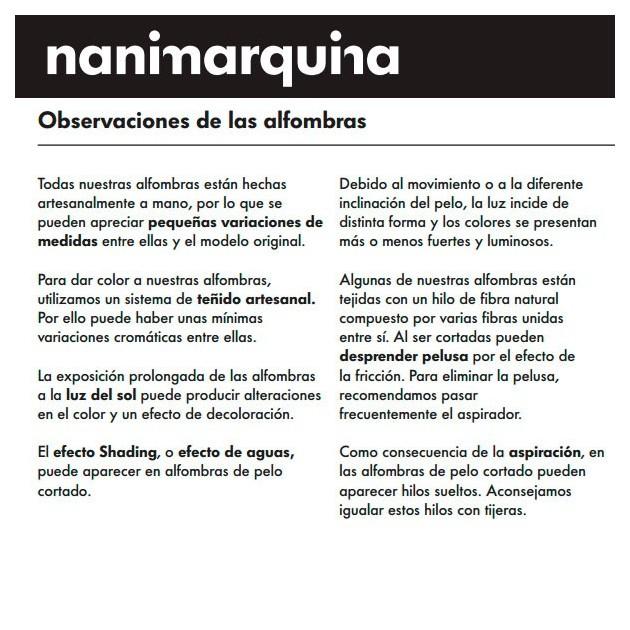 Garantía Victoria 2 alfombra Nanimarquina