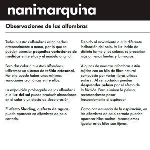 garantía Alfombra Collage 1966 Nanimarquina