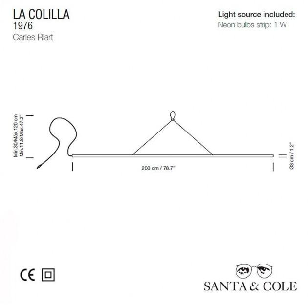 Lámpara La Colilla Santa & Cole técnico