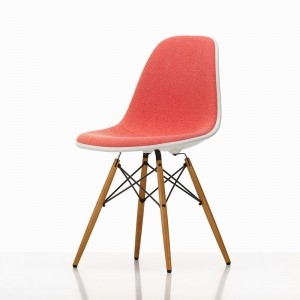 Eames Plastic Chair DSW tapizada rosa