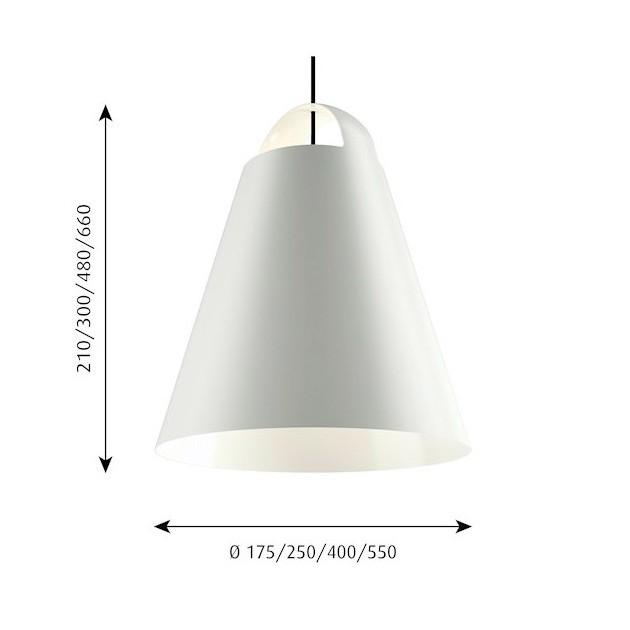 Lámpara Above de Louis Poulsen medidas