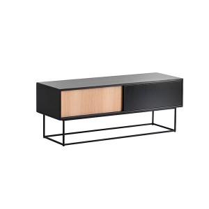 Virka Low Sideboard negro - Woud