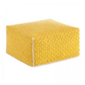 Silaï Big Pouf Yellow - Gan Rugs