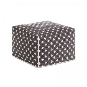Silaï Small Pouf Dark Grey - Gan Rugs