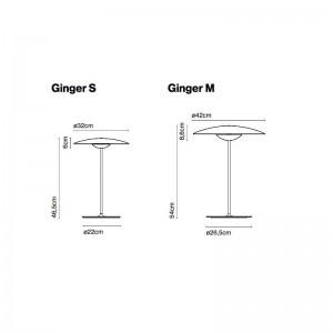 dimensiones lámpara sobremesa Ginger M Marset