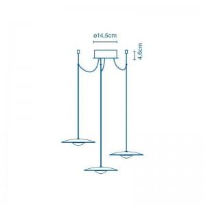 dimensiones lámpara suspensión Ginger 20 x 3 Marset