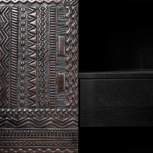detalle tallado armario Tabwa Ethnicraft