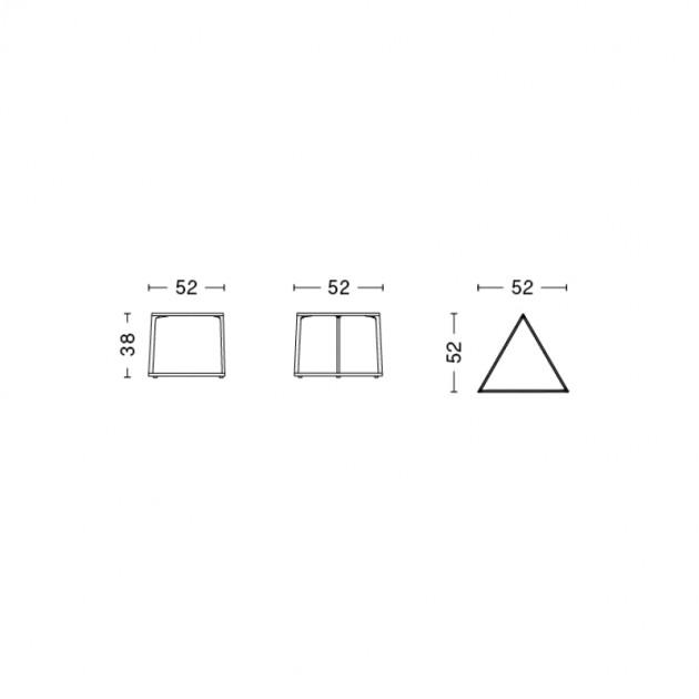 Hay mesa eiffel triangle medidas