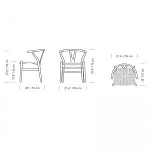 Carl Hansen silla Wishbone CH24 Medidas