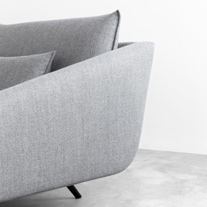 Sofá Costura con chaiselongue tapicería Ducale 832