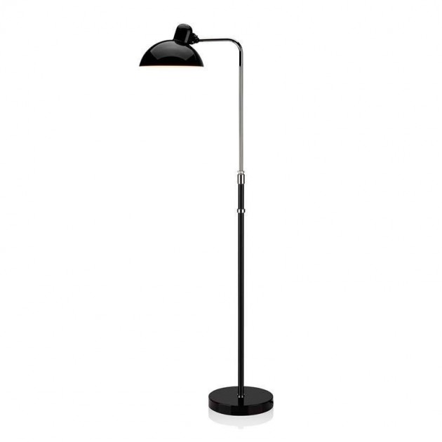 Lámpara de Pie Kaiser Luxus color negro de Fritz Hansen