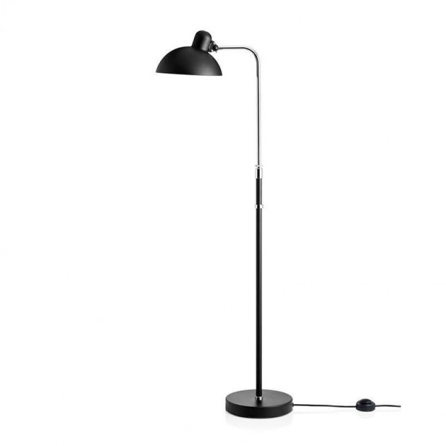 Lámpara de Pie Kaiser Luxus color negro mate de Fritz Hansen