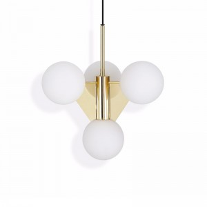 Tom Dixon Lámpara Plane Short Chandelier