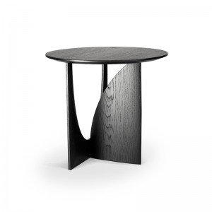 Mesa auxiliar Geometric Roble negro de Ethnicraft en Moises Showroom