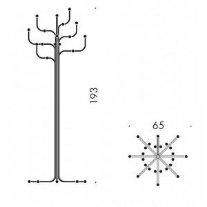 Medidas perchero Coat Tree de Fritz Hansen