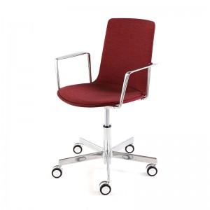 Lottus High Office brazo cromo y tapizado integral - Enea