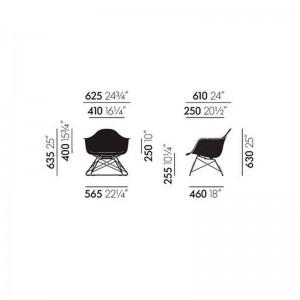Eames Plastic Armchair LAR Vitra medidas