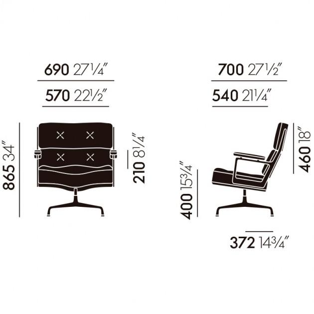 Lobby Chair 108 Vitra medidas