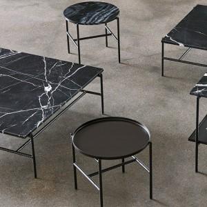 Mesa de café Rebar de HAY en mármol negro en Moises Showroom
