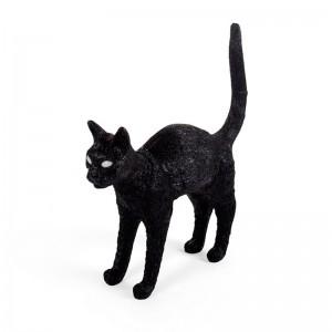 Lámpara Gato Félix negro Seletti