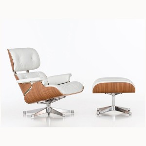 Lounge Chair y Ottoman blanca - Vitra