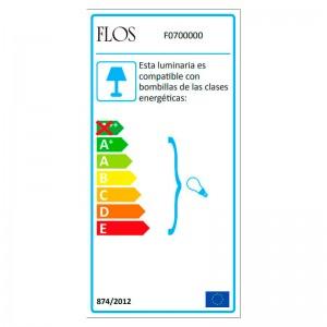 Lámpara Biagio Flos etiqueta energética