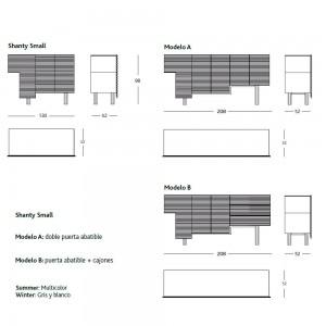 Aparador Shanty de BD Barcelona en Moises Showroom