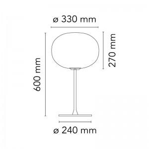 Lámpara Glo-Ball T 1 sobremesa Flos medidas
