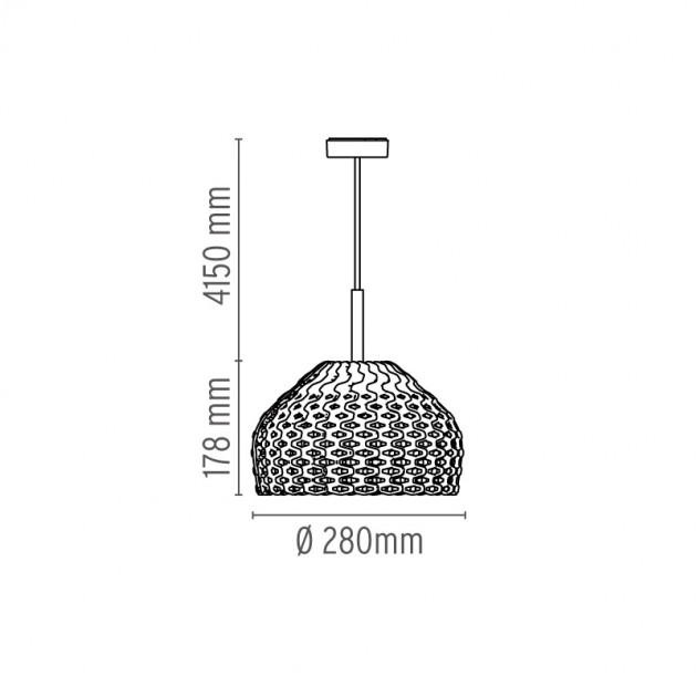Lámpara Tatou S1 suspensión Flos medidas