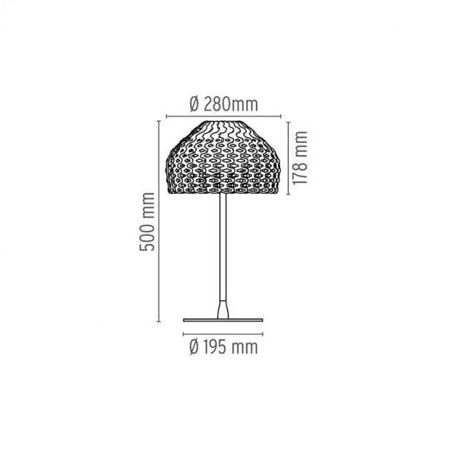 Lámpara Tatou T1 sobremesa Flos medidas