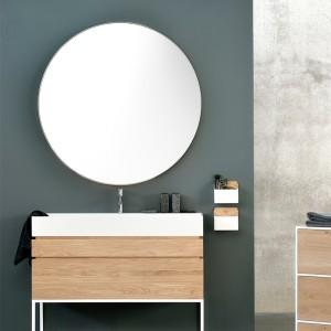 Espejo redondo Layers en madera de roble de Ethnicraft en Moises Showroom
