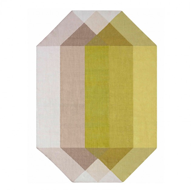Kilim Diamond Pink-Yellow de Gan Rugs en Moises Showroom