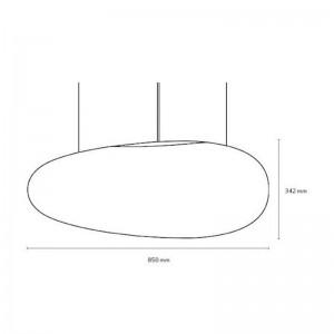 medidas Lámpara de suspensión avion de la marca fritz hansen