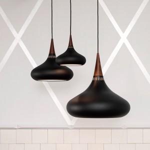 ambiente con Lámparas Orient p1 y P2 color black Fritz Hansen