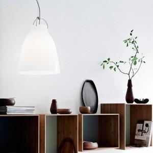 Ambiente con Lámpara Caravaggio Opal P2 Fritz Hansen