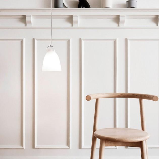 Ambiente con Lámpara Caravaggio Opal P1 Fritz Hansen