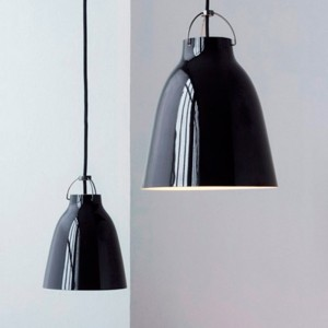 Lámparas Caravaggio P3 y P0 color BlackBlack de Fritz Hansen